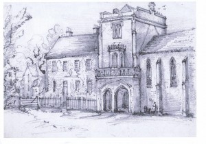 Drawing of Cawood Castle