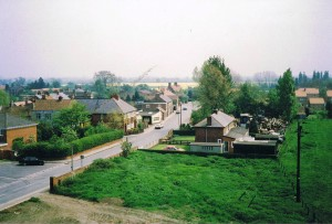 View of Thorpe Lane from Gatehouse roof 1988