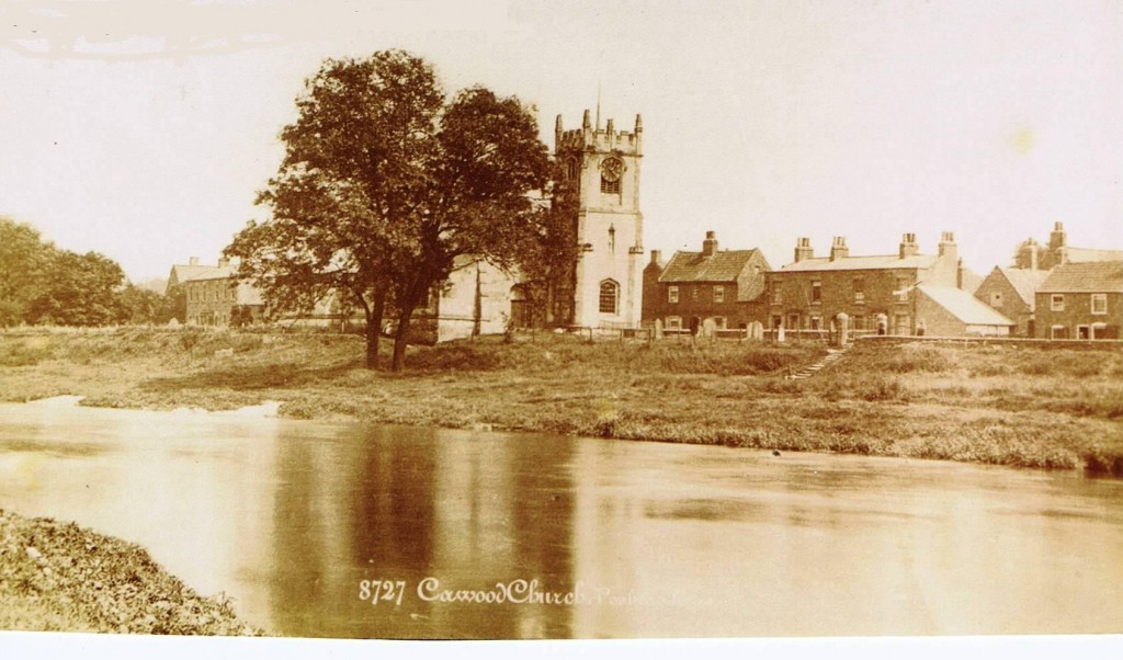 Cawood church before flood defences