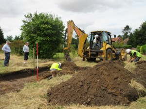 Digging out trench 1